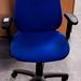 Blue swivel chair