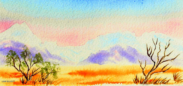 Flinders Ranges - South Australia - Watercolour