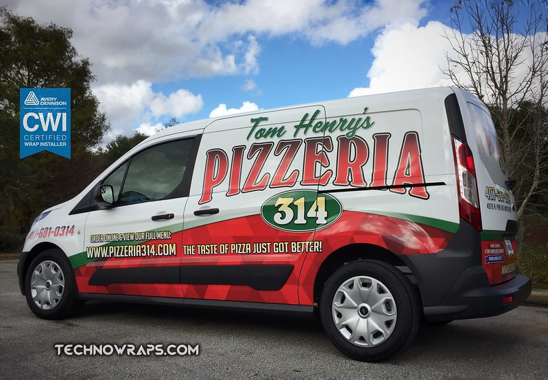 Van wrap on Ford Transit Connect