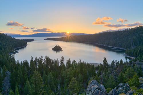 california sunrise laketahoe emeraldbay