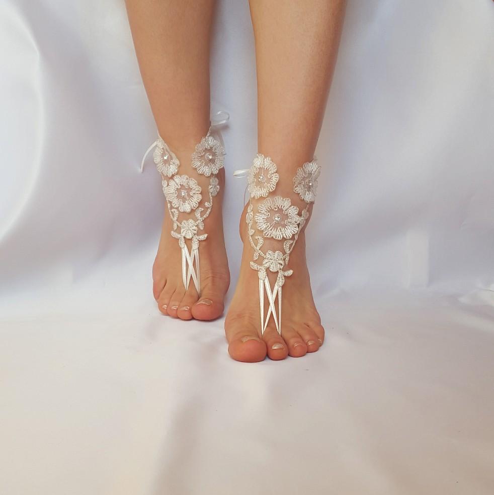 1ea33d5de https   www.etsy.com shop BarefootShop ref pr shop more Beach  wedding   silver  frame  barefoot  sandals  scaly  pearl  bangle  anklet  rustic   unique ...