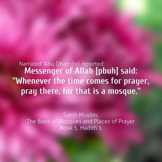 Sahih Muslim, The Book of Mosques and Places of Prayer Book 5, Hadith 1
