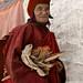 Old tibetan monk portrait, Karsha gompa, Zanskar by magbrinik
