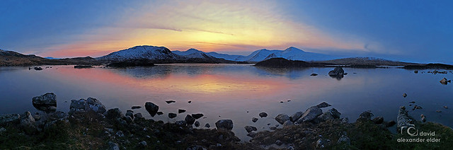 Icy Sunset in the Scottish Highlands