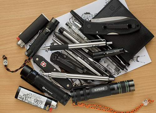 Pens, knives, flashlights..
