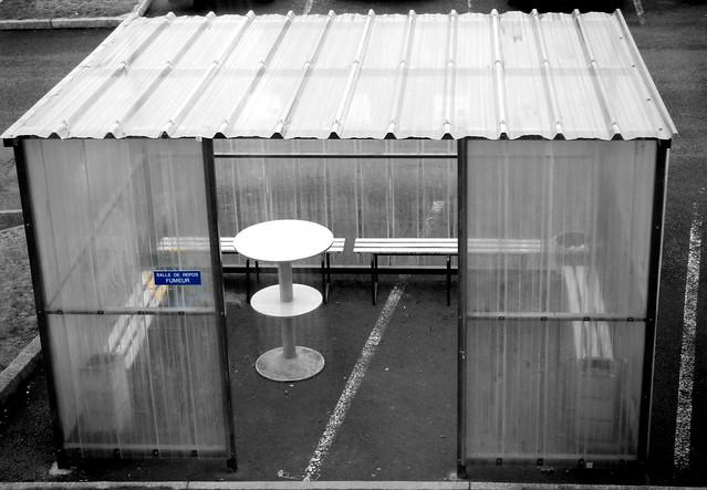 Smoker break room for workers (in explore)