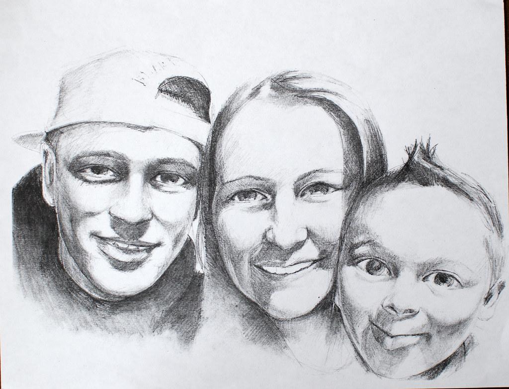 Family portrait pencil drawing kirillnbb flickr