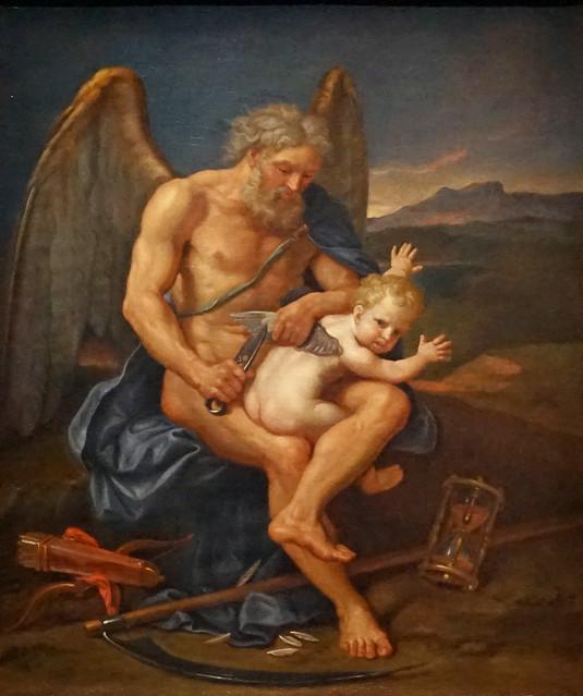 Le Temps coupant les ailes de l'Amour (Exposition Carambolages, Grand Palais, Paris)