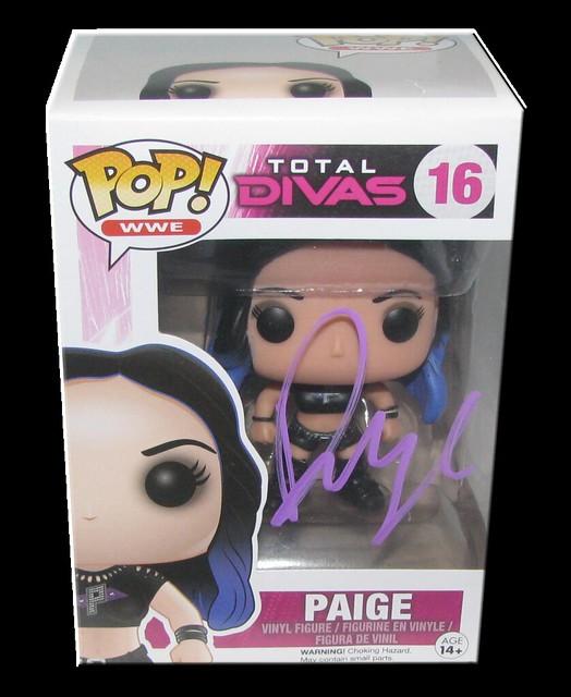 Paige Autographed WWE Pop! Total Divas Funko Vinyl Figure