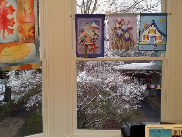 Snow today! The view from my sewing room