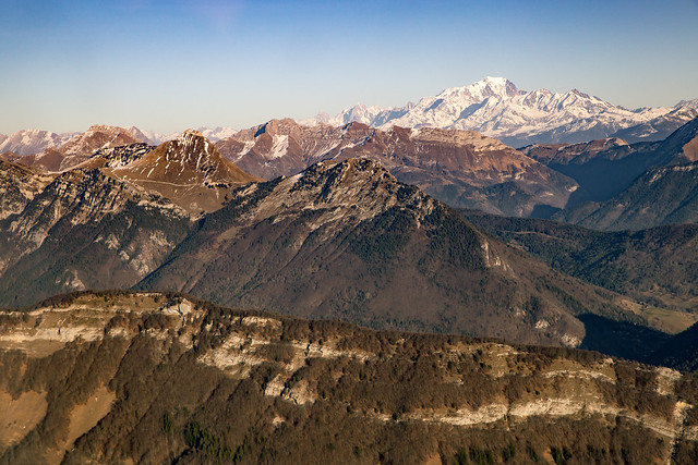 Flight over french Alps