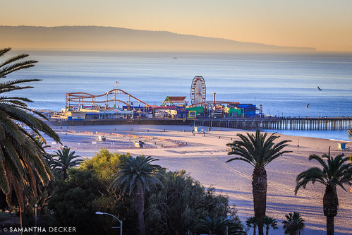 california ca beach sunrise santamonica socal santamonicapier losangelescounty canonef135mmf2lusm fairmontmiramar canoneos6d samanthadecker socal16