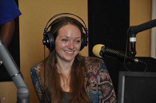 Melanie Merz on the air. Photo by Leona Strassberg Steiner