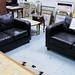 3+2 leatherette sofa set