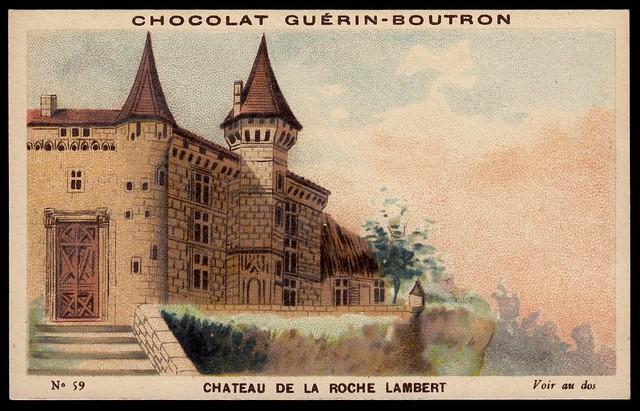 French Tradecard - Chateau de la Roche Lambert