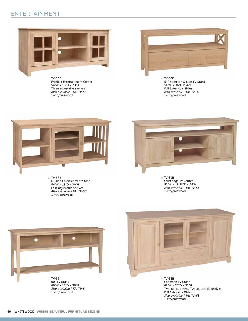 Whitewood • Entertainment • Page 10  Unpainted Furniture Plus