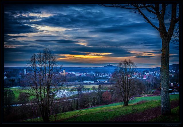 Altenstadt bei Sonnenuntergang