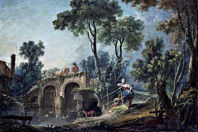 IMG_6974MP François Boucher. 1703-1770. Paris. Le pont. The bridge. 1751. Louvr