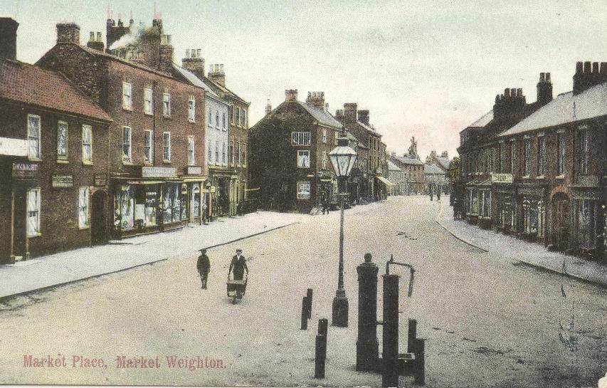 Market Weighton, Market Place from northwest c.1905 (archive ref PO-1-89-8)