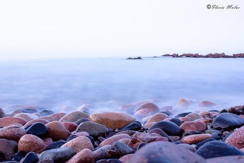 sardegna blue sea sky italy misty stone canon grey coast italia colours stones pietre oriente est scogli scogliera aftersunset cucamonga ogliastra martirreno cardedu costaorientale mistysea coccorrocci canon550d