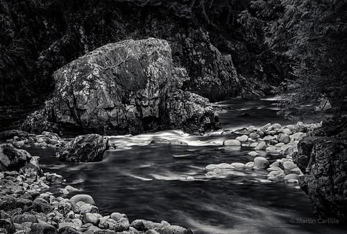 thehouserock capilanocanyon capilanoriver capilanoriverregionalpark northvancouver britishcolumbia canada regionalparks parks rocks canyons rivers water movingwater tamronlenses niksoftware silverefexii sonya7