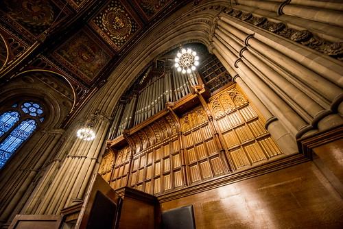 The organ at Manchester Town Hall