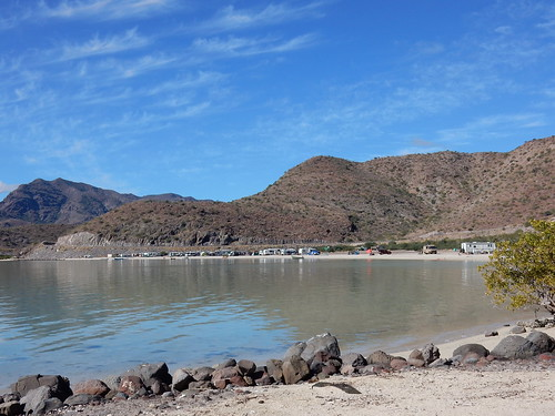 Playa Santispac - beach camping