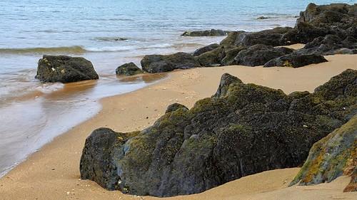 Burumendi (Hirugarren hondartza). #euskadi #baskecoast #baskecountry #landscape #sea #seascape #nighphotography #longexposure #flysch #Euskalkostaldea