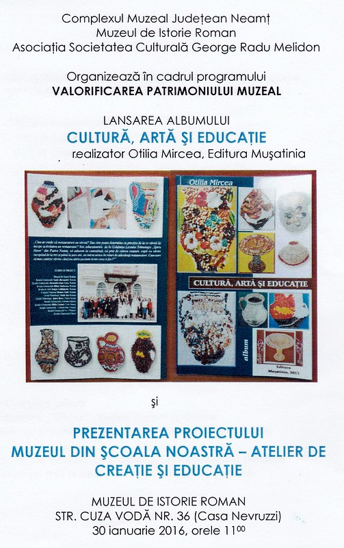 program lansare carte Ed. Muşatinia