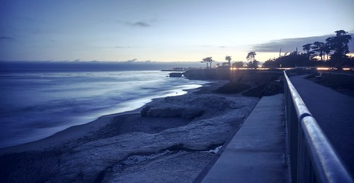 ocean california blue sunset sea santacruz seascape reflection beach water night landscape raw pacific outdoor dusk clear pacificocean bluehour hdr photomatix fav200 1xp nex6 selp1650