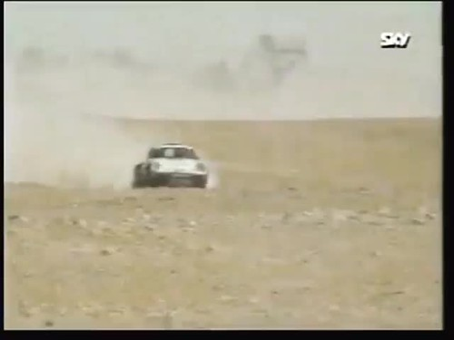 Saeed Alhajri with Ronan Morgan in Qatar Rally 1987 1st please over all .