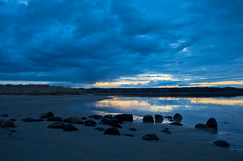 sunset clouds reflections spring maine wells drakesisland webhannetriver