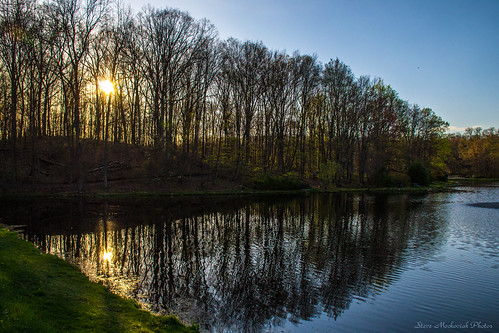 park trees sunset lake water reflections landscape evening newjersey spring pond nikon scenery scenic springtime denville d3100 nikond3100 smack53