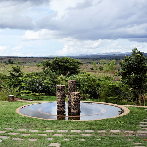 Fountain at the Daeyang Luke Hospital, Lilongwe   by Lars Plougmann