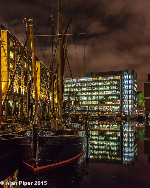 St Katherine's Dock by Night