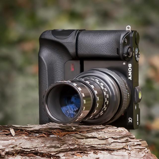 Leitz Wetzlar Elmaron 100mm ƒ/2.8 projection lens (E-mount converted) on SONY ⍺6000