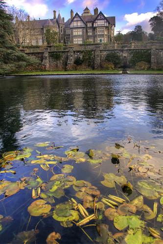 lake reflection building water wales architecture geotagged pond unitedkingdom britain conway lilly manor nationaltrust bodnant gbr eglwysbachcommunity eglwysfâch geo:lat=5323435254 geo:lon=379984639