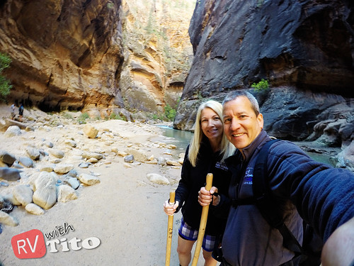 Wed, 10/14/2015 - 11:22 - Hiking the Narrows Trail up the Virgin River in Zion NP