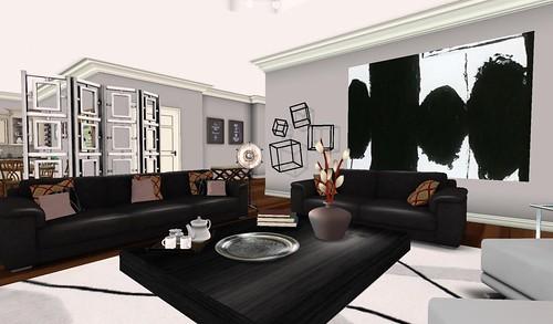 Swank Feb 2016-Cosmo LR Hall   by Hidden Gems in Second Life (Interior Designer)