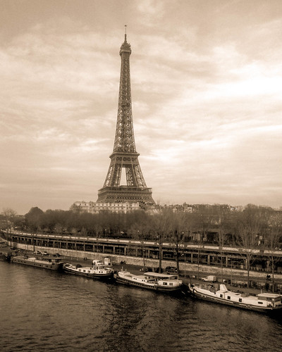 Eiffel Tower in Vintage Sepia | by Lenny K Photography