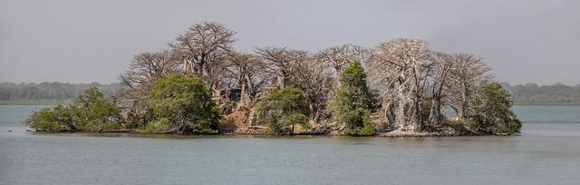 Panorama photo of James island (Kunta Kinteh Island, Unesco world heritage) ,  the Gambia