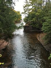 The Little Carp River cuts through the rocks