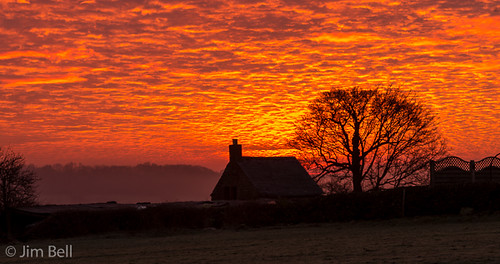red clouds sunrise dawn derbyshire belper jimbell pentaxart pentaxk5