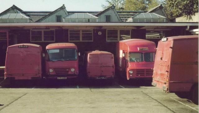 Post Office Vans.
