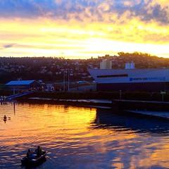 Launcestonn Seaport at sunset :) #michfrost