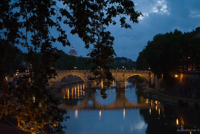 River Tiber In Blue Hour - Rome - With my  teacher Sabrina Fusco Photographer