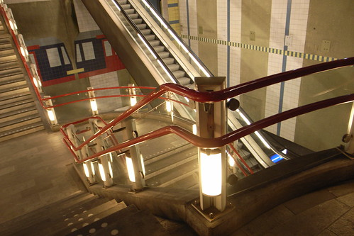 stairs and lights at rotterdam blaak