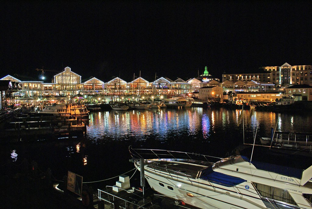 Cape Town Waterfront At Night Taken During The First