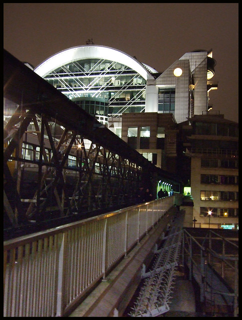 Charing X station by night