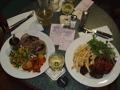 lamb noissettes (left) steak and ribs (right) at The Park Restaurant | by Vanessa Pike-Russell